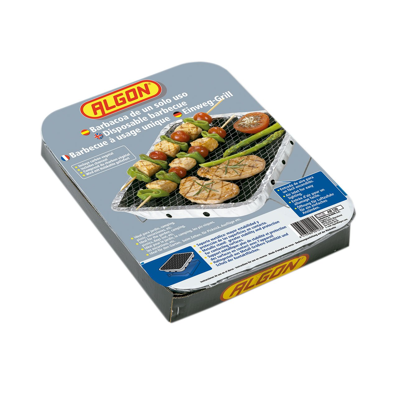 Amazon.com: RAYEN AB126 Disposable Barbecue Charcoal Grey 4.5 x 24 x ...