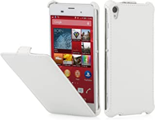 StilGut® Slim Case, custodia per Sony Xperia Z3, bianco vintage