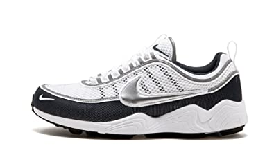 Mens Air Zoom Spiridon 16 Running Shoes, Colour: Iron Green Black Hyper Crimson Nike