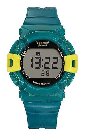 Trendy Junior KL264 - Reloj digital de cuarzo para niño, correa de plástico color azul: Amazon.es: Relojes
