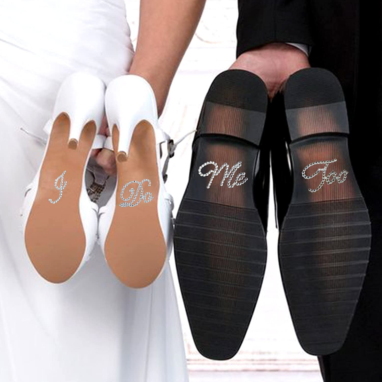 I Do Ich Tue Wei/ß 1 St/ück E-muse Strass Schuhsticker Hochzeitsschuh-Aufkleber