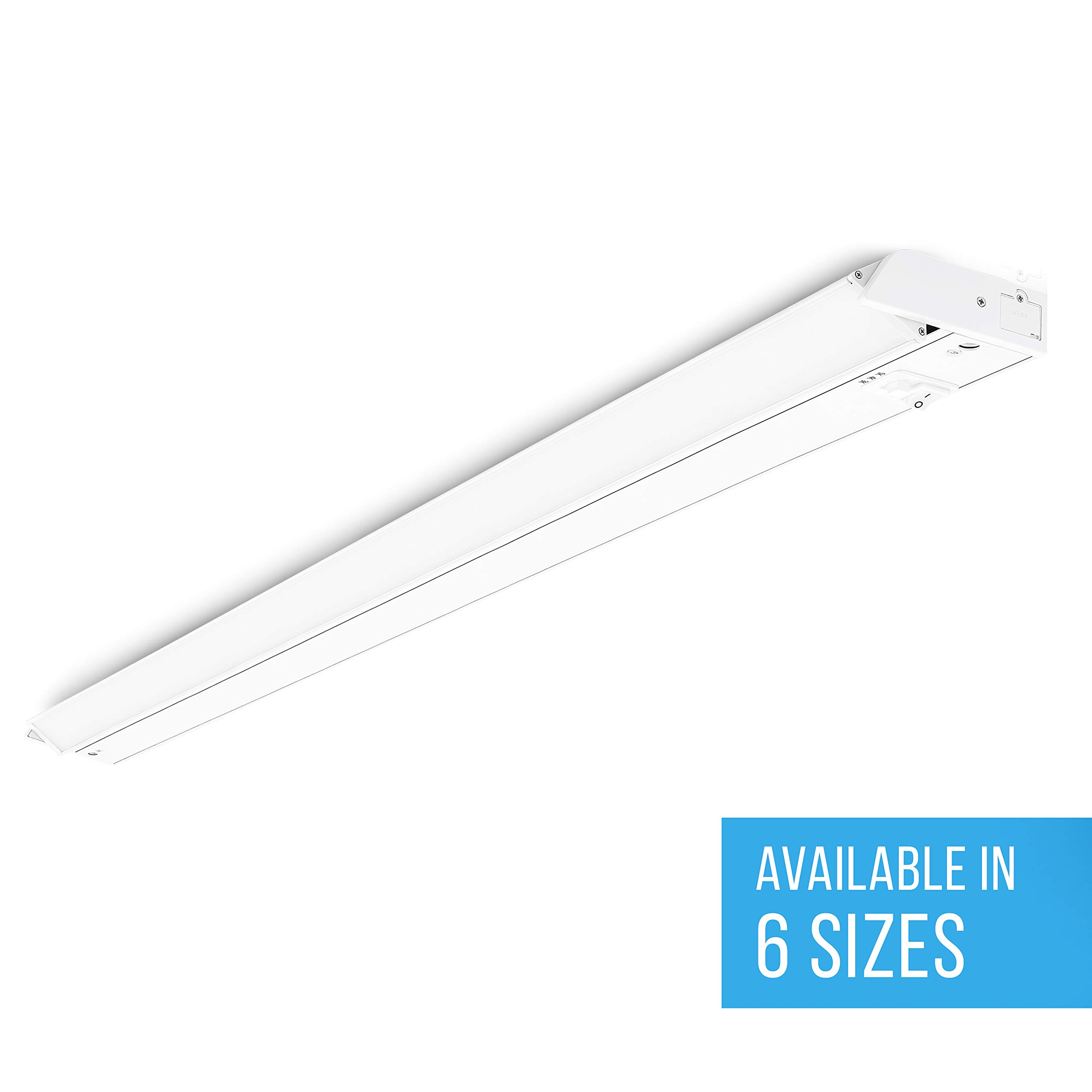 Parmida LED Swivel Under Cabinet Light (Adjustable Lens Angle), 42 Inch, 22W, 1320lm, Dimmable, Linkable, 3-in-1 Color Levels, Hardwire or Plug-in, On/Off Switch, ETL & ENERGY STAR, 120V by Parmida LED Technologies
