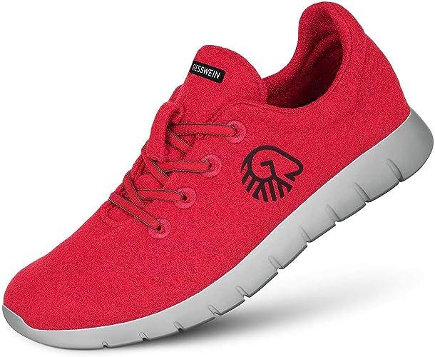 Giesswein Merino Runners Women, Atmungsaktive Sneaker für Damen aus 100% Merino Wolle, Sportliche Schuhe, Halbschuh, Freizeitschuh, Damenschuhe