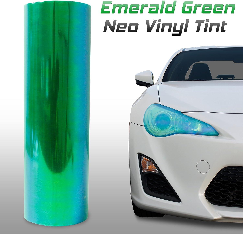 Optix Chameleon Neo Chrome Headlight Fog Light Taillight Vinyl Tint Film Green 12x48 in 1x4 Ft