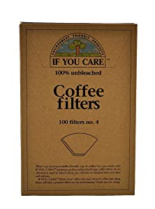 If You Care Unbleached Coffee Filters, #4 cone, 100 count - Pack of 2