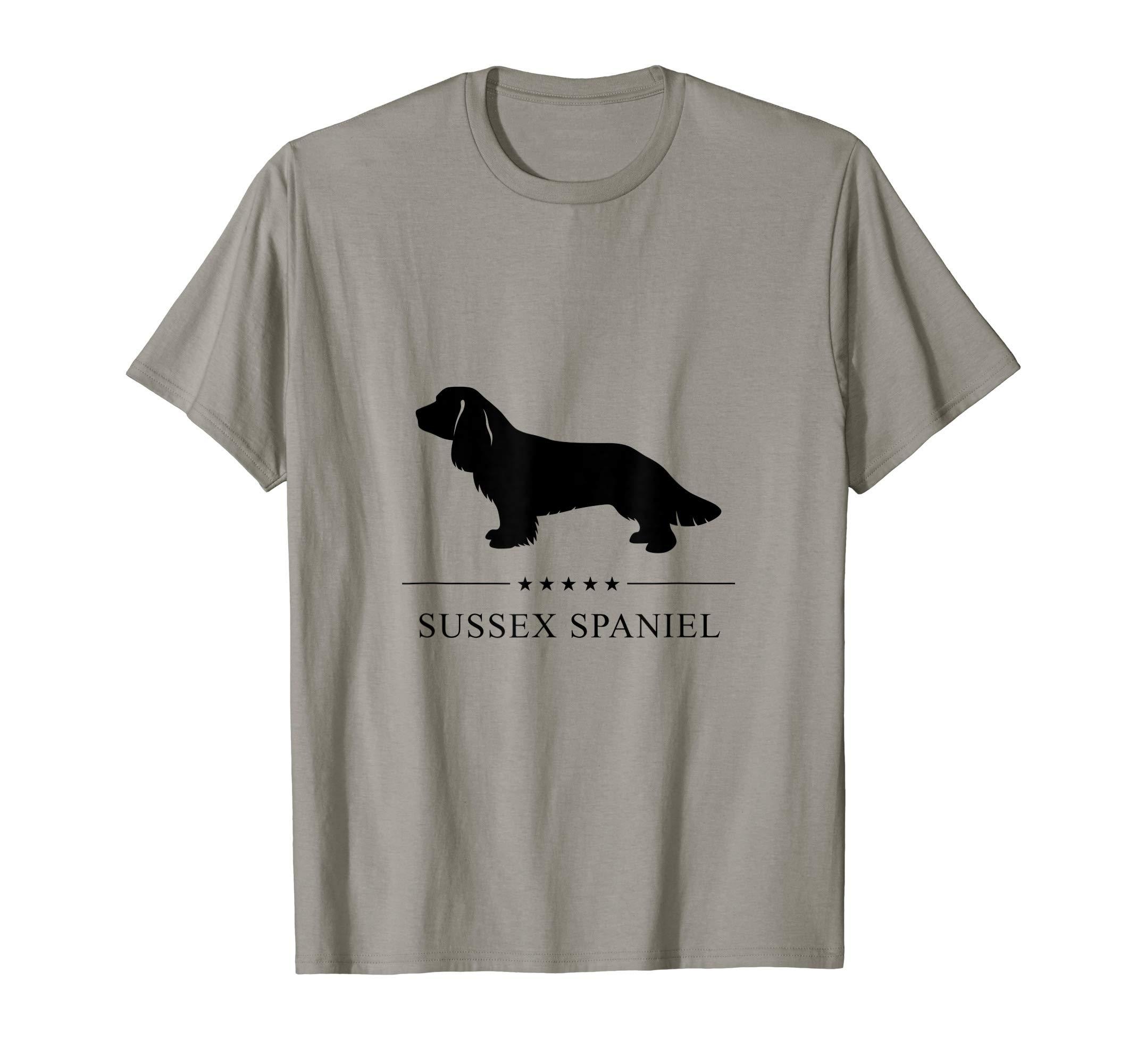 Sussex Spaniel Black Silhouette T-Shirt 1