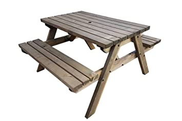 Fortem Traditional Pub And Garden Style Bench Commercial Grade Heavy Duty Pressure Treated Handmade Wooden Outdoor Furniture In Uk Rustic
