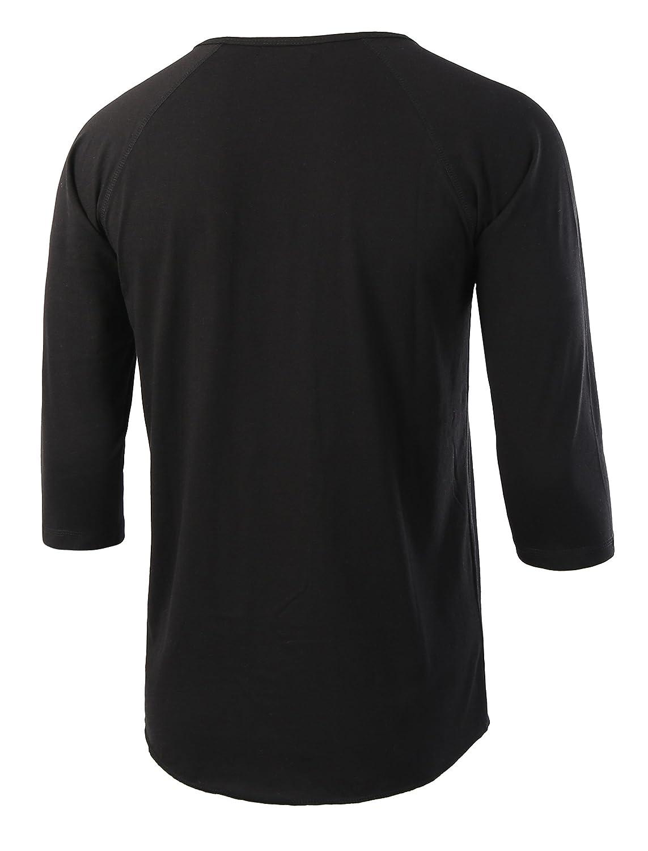 56e925197aa HETHCODE Men s Casual Raglan Fit Soft Baseball 3 4 Sleeve Henley T-Shirts  Tee at Amazon Men s Clothing store
