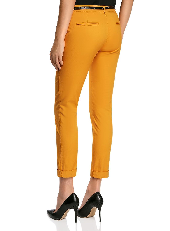 Mujer Oodji Ultra Mujer Pantalones Chinos Con Cinturon Ropa Brandknewmag Com