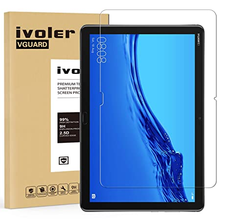 iVoler Protector de Pantalla para Huawei MediaPad M5 Lite 10, Cristal Vidrio Templado Premium