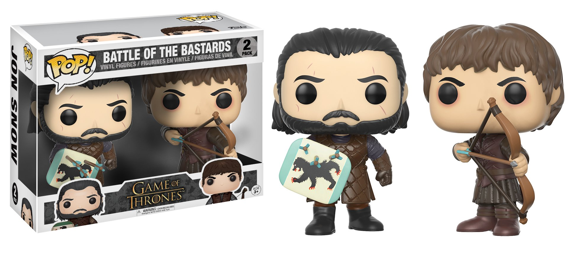 Funko Pop Game of Thrones Jon Snow & Ramsay Bolton Battle of the Bastards Collectible Figure