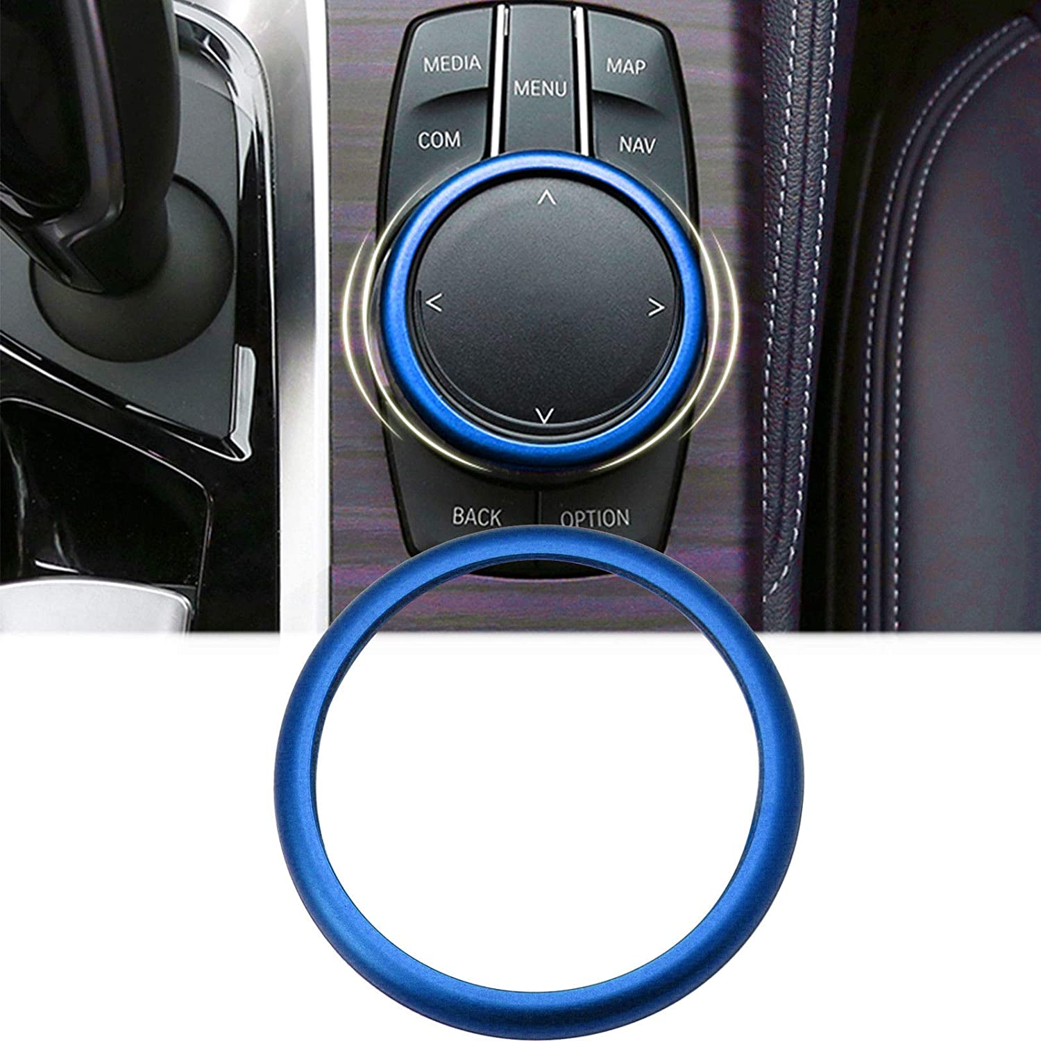 Red Xotic Tech Direct Xotic Tech Engine Start Stop Button Cover Key Switch Aluminum Decor Ring Sticker for BMW 5 Series X5 F10 F11 2017 2018 up
