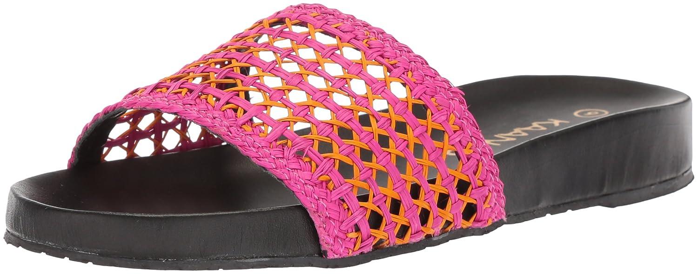 KAANAS Women's Akumal Woven Pool Slide Sandal B076FKNRLP 9 B(M) US|Fuchsia