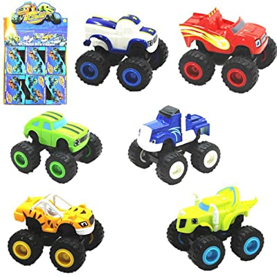Lorenlli 6PCS / Set Vehículos Toy Racer Cars Camiones Kid Car Models 4 Wheels Car Classic Collection Kids Toys Vehículo para niños Regalos: Juguetes y juegos