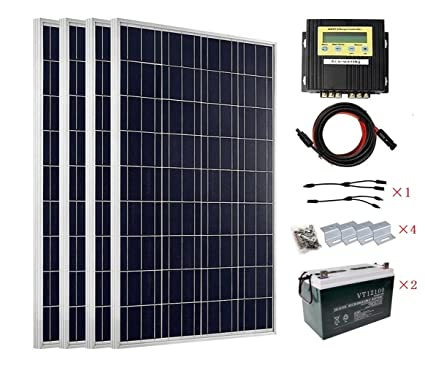 Amazon Com Eco Worthy 400w Solar Panel Kit For 12v And 24v Battery