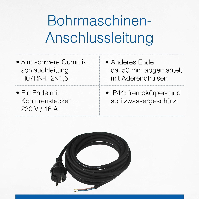 As Schwabe Gummi Anschlussleitung 5 M Verbindungskabel 230 V 16 A H07rn F 2x1 5 Schuzkontaktstecker Mit Leitung Strom Kabel Mit Aderendhülsen Ip44 I 70558 Baumarkt