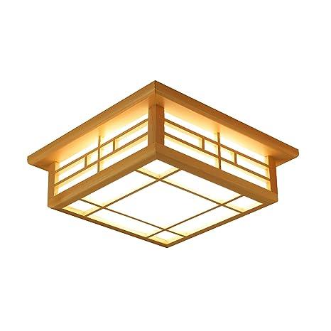 Lámparas de techo Lámpara de techo Lámparas de madera maciza ...