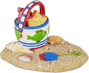 Studio M Beach Pail in Sand for Miniature Garden, Fairy Garden, Multicolor