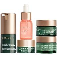 Biossance Overachievers Set - 5-Piece Set - Lactic Acid Night Serum, Vitamin C Rose Oil, Omega Repair Cream, Marine…