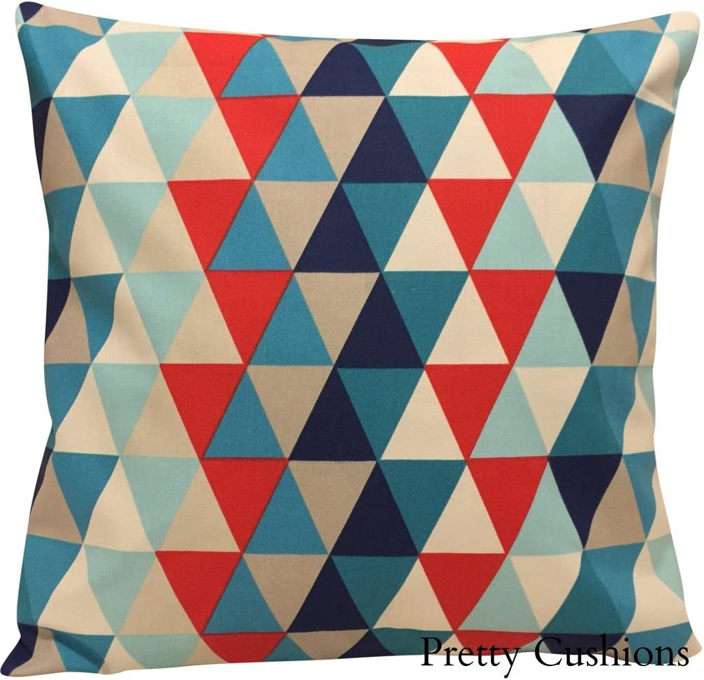 Harlequin Kaleidoscope Geometric Blue Cushion Cover