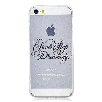 Funluna Funda iPhone SE, Carcasa iPhone 5S / 5, Dreaming Diseño Cubierta de Silicona Gel Case Ultra Delgado TPU Goma Flexible Cover Transparent ...