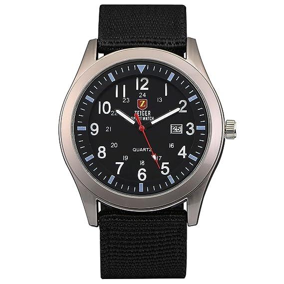 Reloj Hombre Deportivo KZKR Reloj de Hombre Reloj de Pulsera Nylon Reloj Hombre Date Reloj Hombre