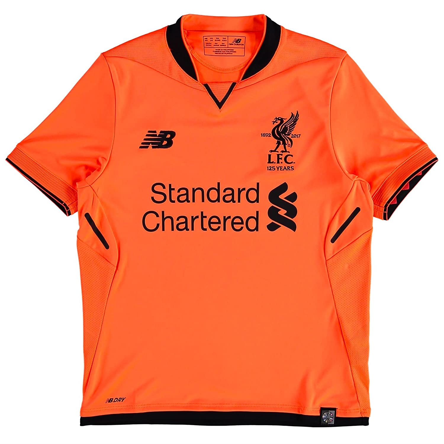 new product b6760 071e3 New Balance Liverpool FC 3RD Junior SS Jersey [Bold Citrus ]