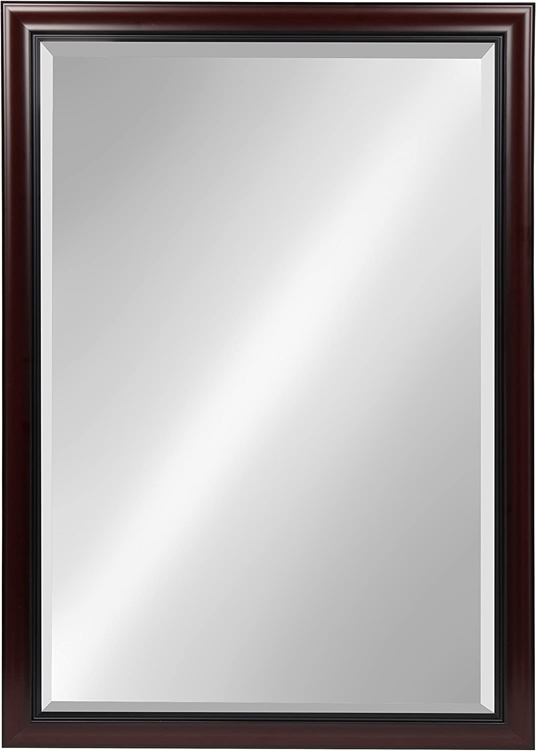 Kate and Laurel Dalat Framed Wall Mirror, 28x40, Cherry