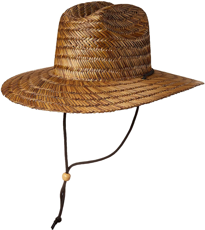 BROOKLYN ATHLETICS Men's Straw Sun Classic Beach Hat Raffia Wide Brim