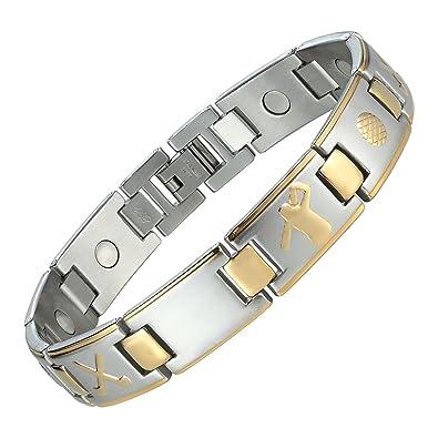 Acier 23 Cm Pour Bracelet 316l En Link Homme Urban De Casquette Jewelry Inoxydable Baseball Magnétique nOw08PXk