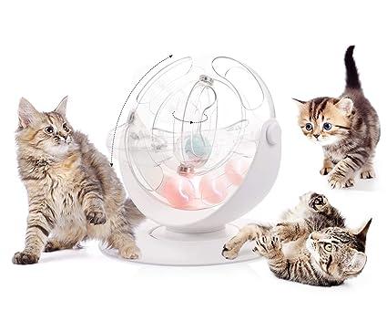 Amazon.com: Pecute - Pelota giratoria de 360° para gato ...