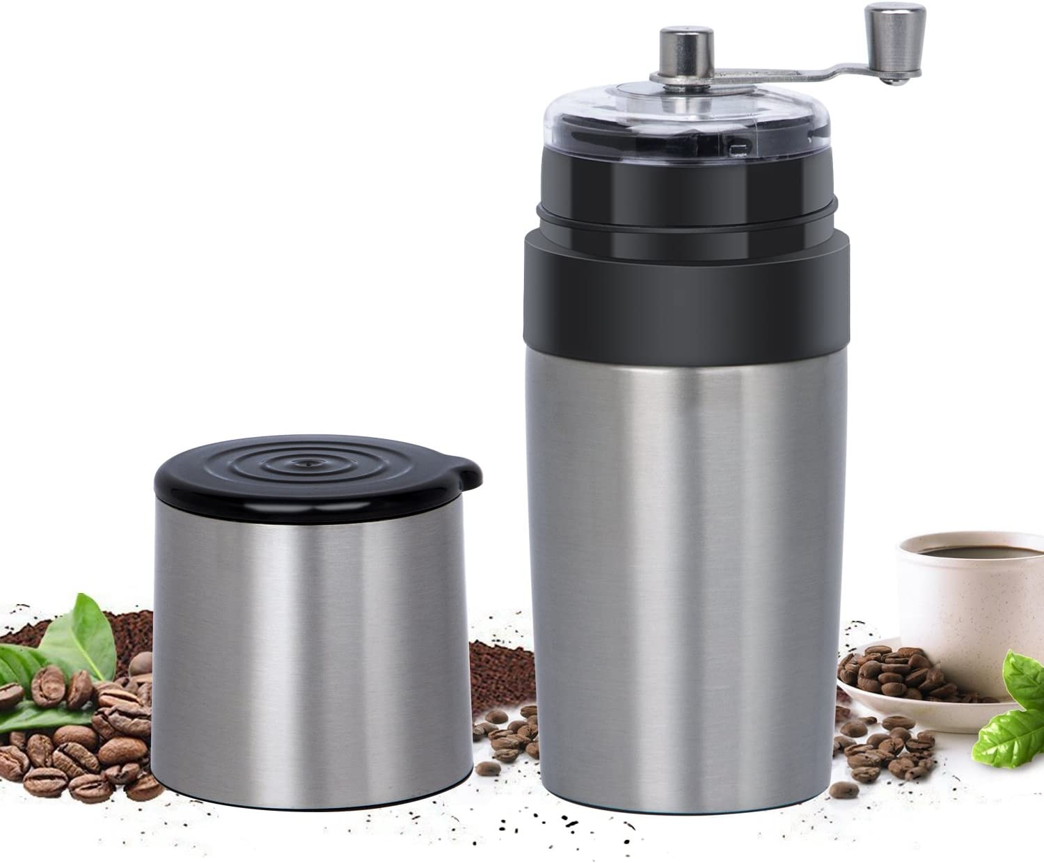 Details about  /Mini Stainless Steel Manual Coffee Grinder Coffee Bean Mill Machine Kitchen Tool