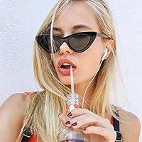 Cumturmx Vintage Triángulo Ojo de Gato Mujeres Gafas de Sol Personalidad Gafas de Sol Marco de PC Lente de Resina Viaje UV400 Gafas de Sol Gafas