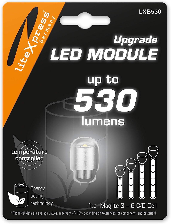 Maglite Actualizacion Lampara LED 530 lúmenes 3-6 C/D Celdas