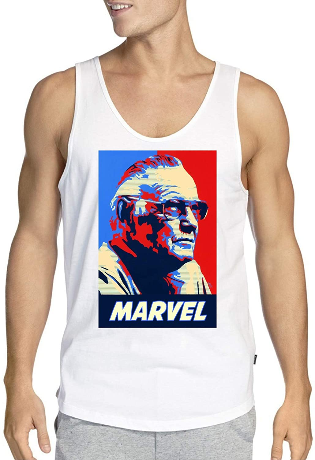 RIP Stan Lee Marvel White Tank Top