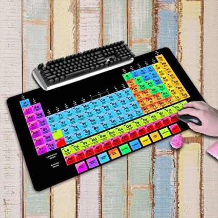 HONGHUAHUI Tablero de tabla periódica Lock Edge mousepad ...