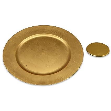Platos de sitio y posavasos - dorados - Set de 12  Amazon.es  Hogar d8a778b6374c
