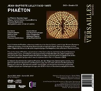 Phaetoninclus Dvd Jean Baptiste Lully Poème Harmonique