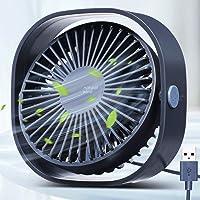 USB Ventilator,3 Geschwindigkeiten Tragbar Desktop Mini Ventilator, USB, Starker Wind, Leiser Betrieb Für Den Schreibtisch,Zuhause,Büro und Zimmer - OUTERDO