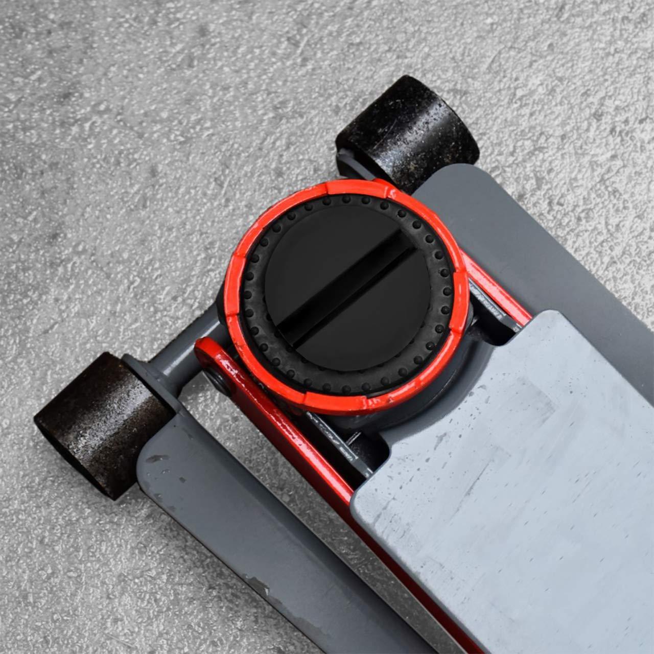 DEDC 2 pz Tampone Jack Pad Adattatore Auto Universale Fessura Telaio Scanalatura Pavimento Jack Adattatore per Cuscinetti in Gomma Tondo Nero