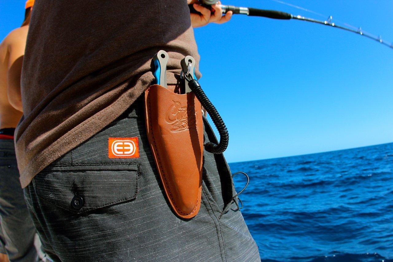 Cuda Brand Fishing Products, Titanium Bonded Pliers, 7.25'' Alloy w/Leather Sheath