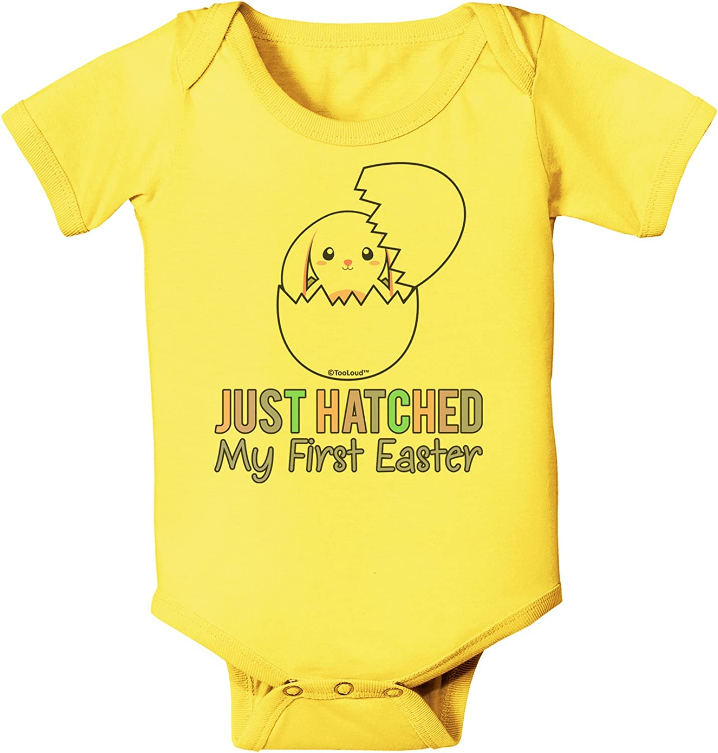 TooLoud Just Hatched My First Easter Blue Infant T-Shirt Dark