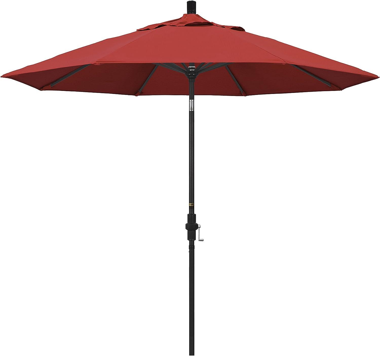 Paraguas de California 9-Feet Tejido de Olefina Aluminio Elevador ...