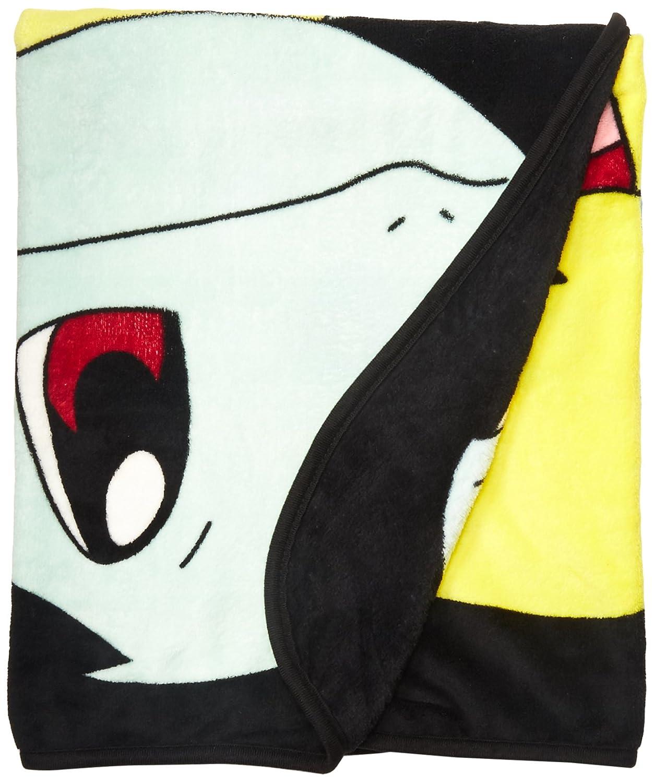 Bioworld Pokémon Multi Character Kanto Starters Fleece Throw Blanket, 48