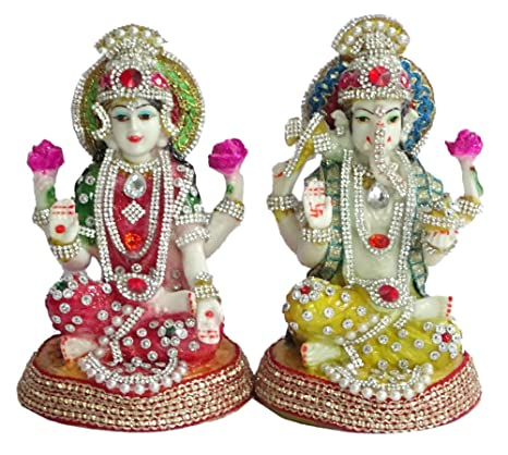 d34d7c375f7d Buy Paras Magic Lakshmi   Ganesh Idol (10X5X7 inches) Online at Low Prices  in India - Amazon.in