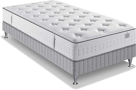 Simmons Twist Conjunto colchón y somier + Patas, Otros, Blanco, 90 x 190