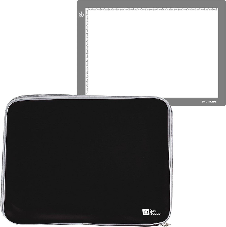 DURAGADGET Funda De Neopreno Negra para Tableta Gráfica/Caja de luz Huion L4S | LB4 | A4: Amazon.es: Electrónica