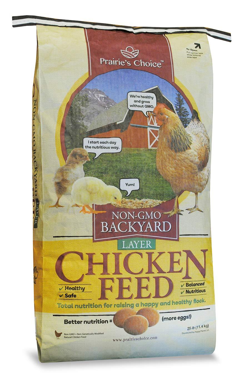 Prairie's Choice Non-GMO Backyard Chicken Feed - Layer Formula, 25lbs by Prairie's Choice