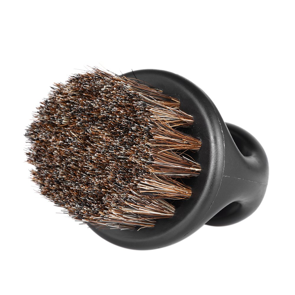 Anself Men's Beard Brush Barber Hair Neck Brush Mustache Shaving Sweep Brush Hairdressing Duster Brush for Salon Household W5646-HMMFBA