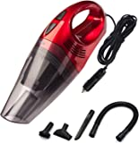 Trehai Car Vacuum Cleaner - DC 12V 120W Wet/Dry High Powerful 3500pa Suction Portable Handheld Auto Vacuum Cleaner Car Hoover Dust Buster with 4.5M Power Cord, Red